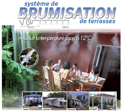 photo brumisateur de terrasse