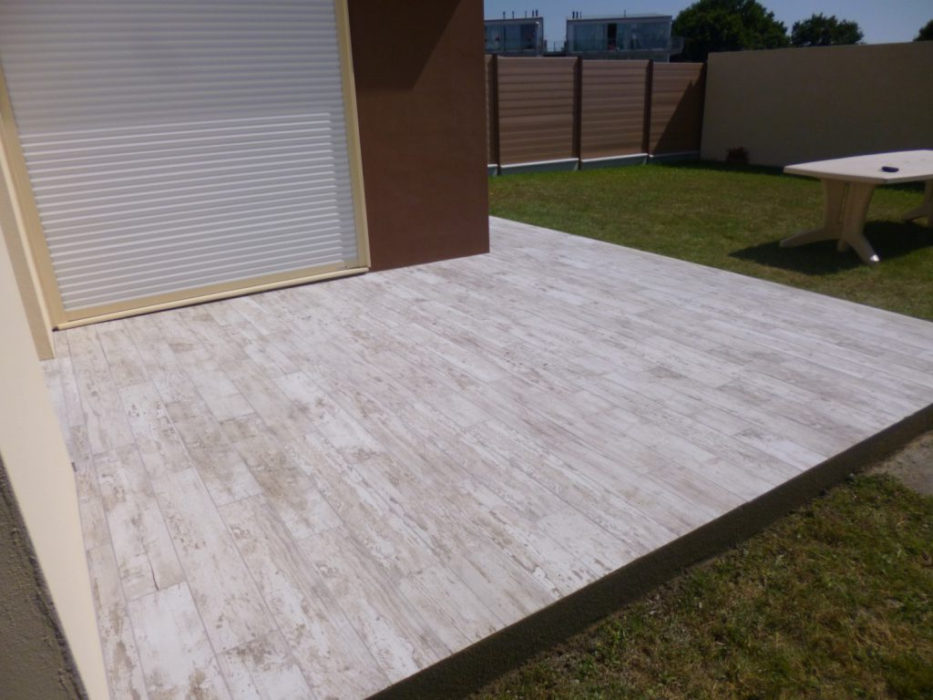 exemple carrelage terrasse