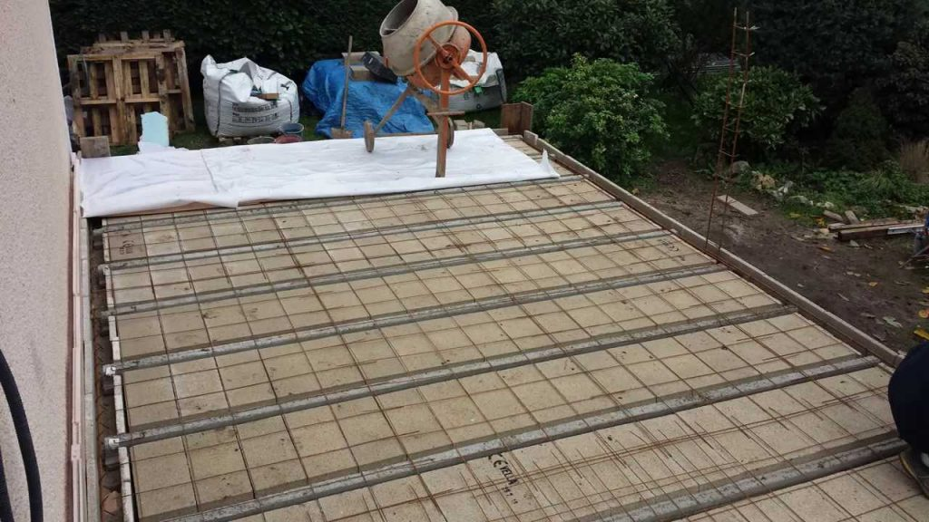 photo dalle beton terrasse