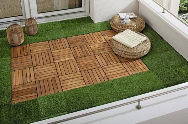 photo gazon synthetique pour terrasse