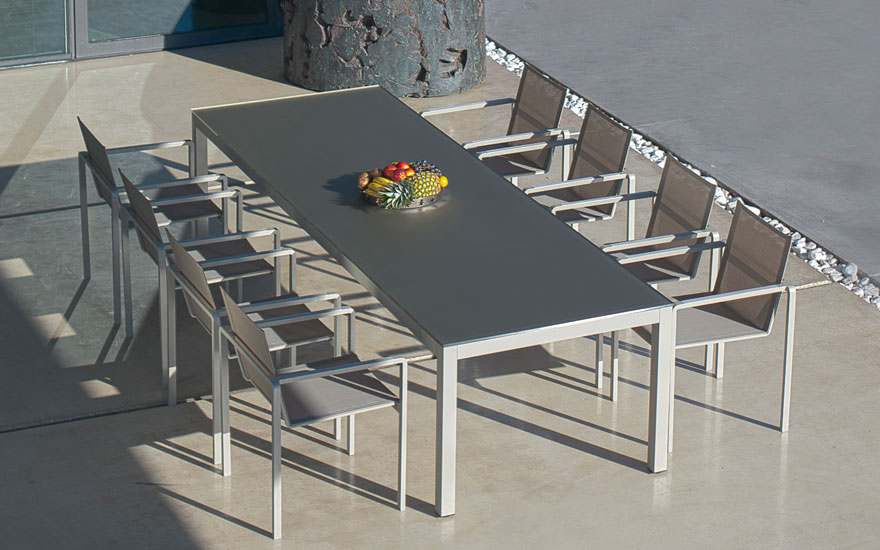 photographie table terrasse
