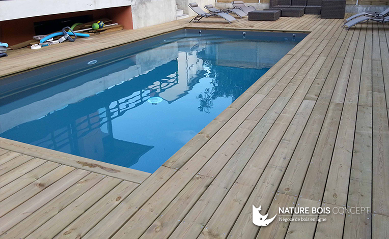 illustration terrasse bois piscine