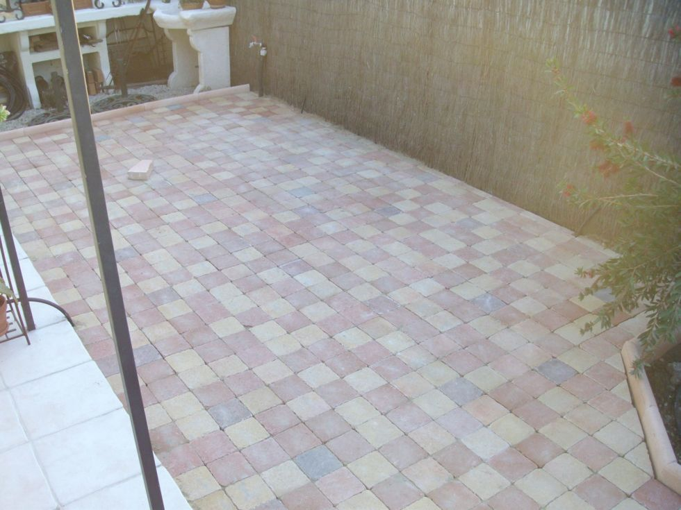 visualiser terrasse en pavé