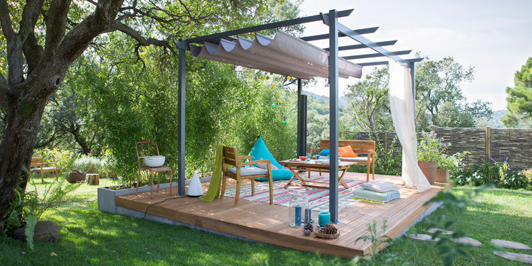 photo terrasse jardin