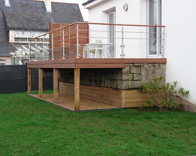 Terrasse Bois Sur Pilotis En Pin Rouge Du Nord Pictures to pin on